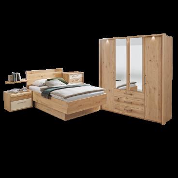 Disselkamp Cadiz Schlafzimmer Bett Nachtkonsole Drehturenkleiderschrank Balkeneiche Echtholz Furniert Mit Schubkastenkommode