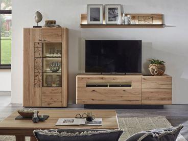 hartmann kvik wohnkombination 24 mit highboard und tv unterteil. Black Bedroom Furniture Sets. Home Design Ideas