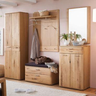 Mca Furniture Nilo Platz Sparende Kommode Front Balkeneiche Bianco