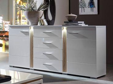 Innostyle Sideboard SPOT Weiß, Kommode 10 68 WW 20 Mit LED Beleuchtung, ...