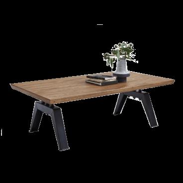 Bodahl Couchtisch Palermo 13241 Tischplatte Massivholz Gestell Schwarz