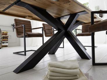 Bodahl esstisch massiv rustic oak mit double x gestell und for Esstisch chicago