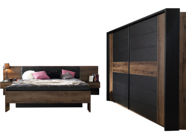 FORTE Bellevue Schlafzimmer 4 Teiliges Set Mit Bettanlage Ca. 180x200cm  Inkl. Zwei Nachtkommoden ...