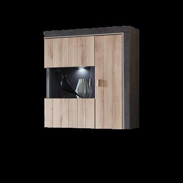 Ideal Mobel Moderne Hangevitrine In Kronberg Eiche Hell Nb Oxid Optik