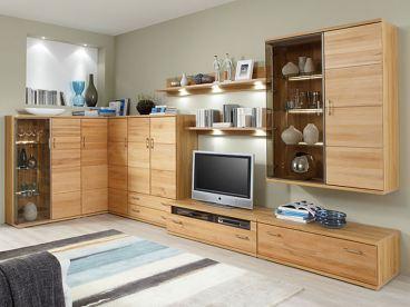 Ideal Möbel Teilmassive Wohnwand Preno In Kernbuche