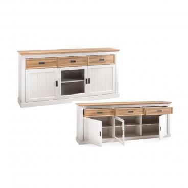 Mca Furniture Sideboard Im Dekor Weiss Wildeiche Im Landhausstil