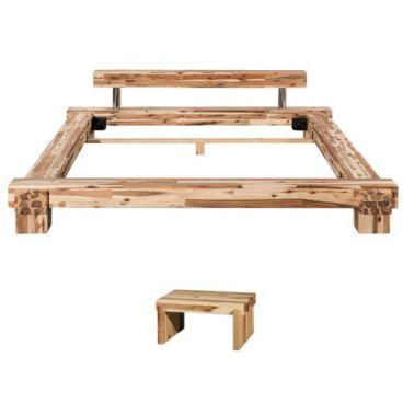 massivholzbett cali 180 x 200 cm von modular in akazie massiv. Black Bedroom Furniture Sets. Home Design Ideas