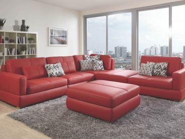 eckkombination bangkok von poco im bezug echtleder dolcia paprika. Black Bedroom Furniture Sets. Home Design Ideas