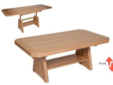 vierhaus 7290 110 00 lift couchtisch wildeiche bis 220 cm. Black Bedroom Furniture Sets. Home Design Ideas