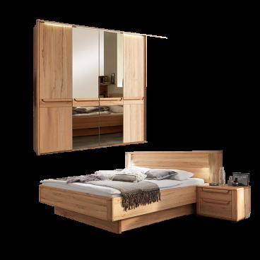 Wostmann Wsm 2300 Schlafzimmer 2 Teilig Bestehend Aus Bettanlage Liegeflache Wahlbar Und 4 Turigem Drehturenschrank Optional