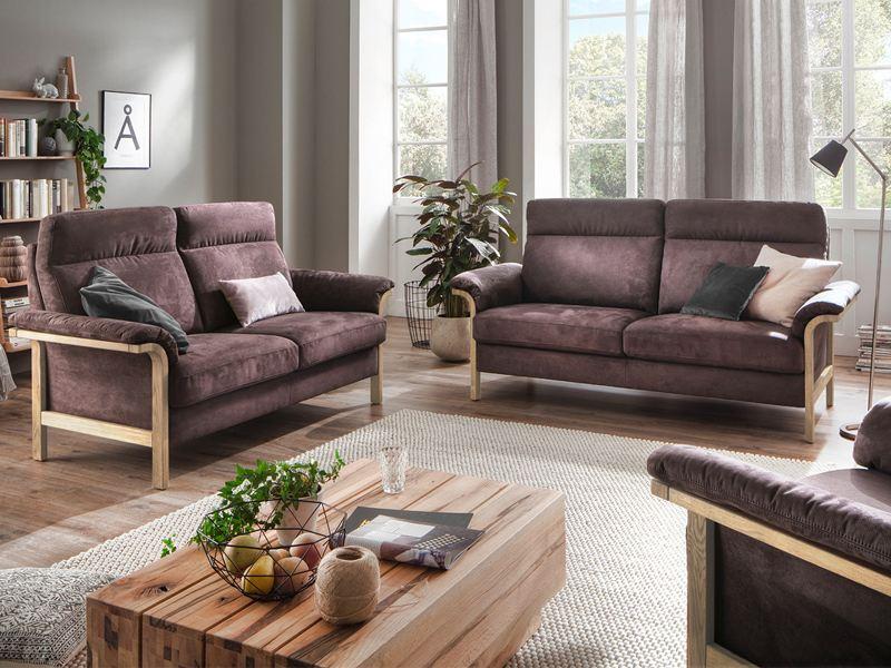 carina 4100 polstergarnitur 3 teilig in vielen farbenfrohen stoff oder echtlederbez gen w hlbar. Black Bedroom Furniture Sets. Home Design Ideas