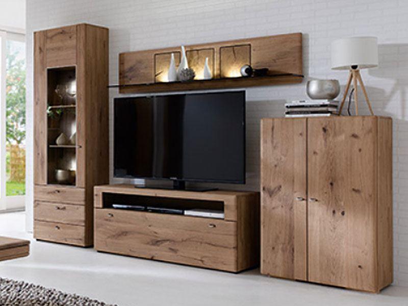 hartmann jon wohnkombination 23 mit beleuchtung. Black Bedroom Furniture Sets. Home Design Ideas