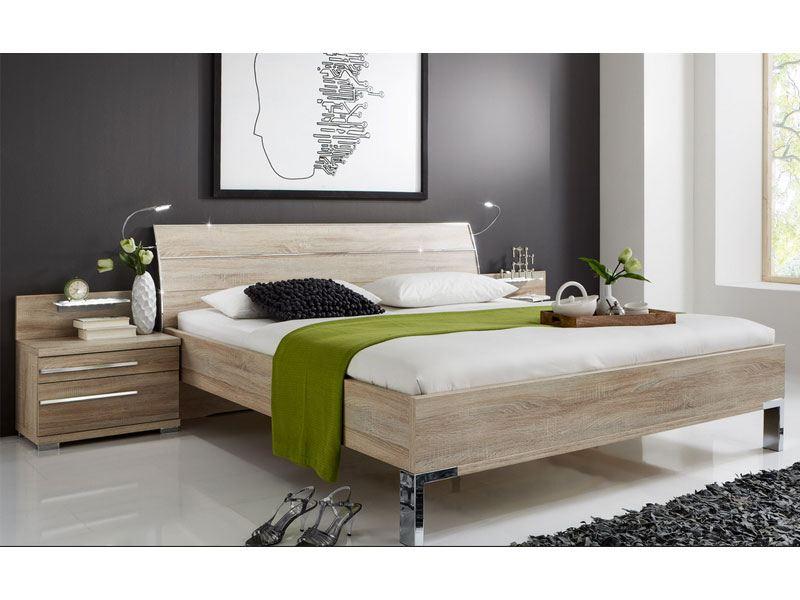 wiemann hollywood 4 bett kopfteil mit 3 leisten in chrom. Black Bedroom Furniture Sets. Home Design Ideas
