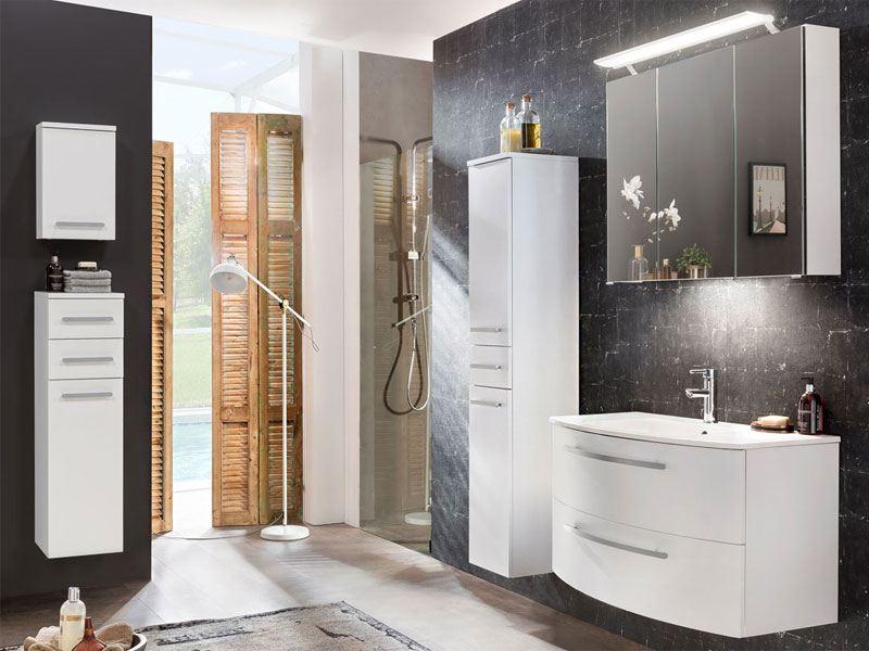 w schildmeyer m bel im set 5 teilig f r badezimmer mit waschtisch und spiegelschrank. Black Bedroom Furniture Sets. Home Design Ideas