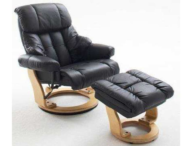 Mca furniture wohnzimmer relaxsessel calgary mit hocker for Relaxsessel sale