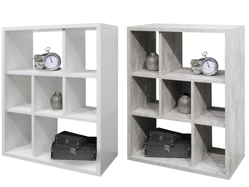 m usbacher regal mix mit sieben offenen f chern und w hlbarem dekor. Black Bedroom Furniture Sets. Home Design Ideas