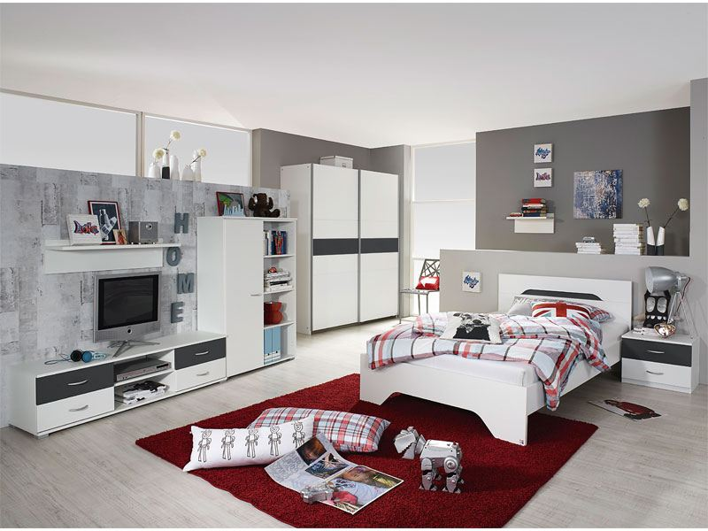 rauch pack 39 s noosa jugendzimmer in alpinwei absetzung grau metallic. Black Bedroom Furniture Sets. Home Design Ideas