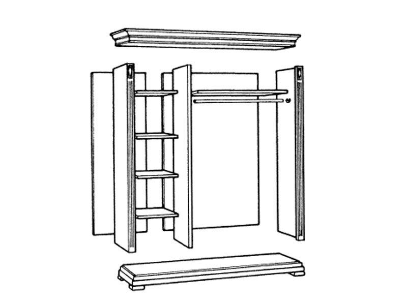 selva villa borghese schrank 7379 italienisches stilm bel. Black Bedroom Furniture Sets. Home Design Ideas