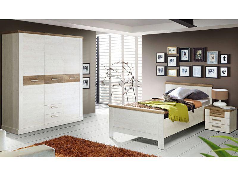 Forte jugendzimmer 3 teilig im landhausstil mit viel stauraum for Jugendzimmer selbst zusammenstellen
