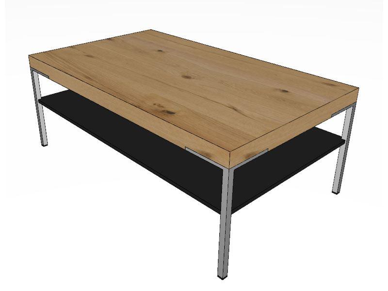 Gwinner Couchtisch Mit Furnierter Tischplatte Und Ablage In Lack