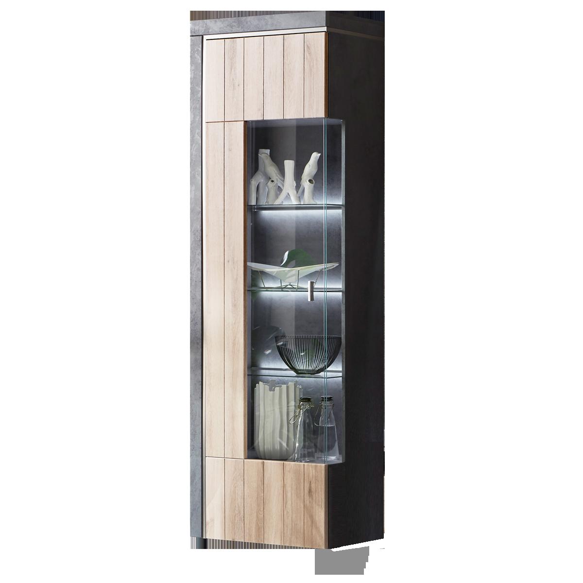Ideal Möbel Ribeira Vitrine Type 01 Mit Einer Glastür Für Ihr Wohnzimmer  Oder Esszimmer Moderne
