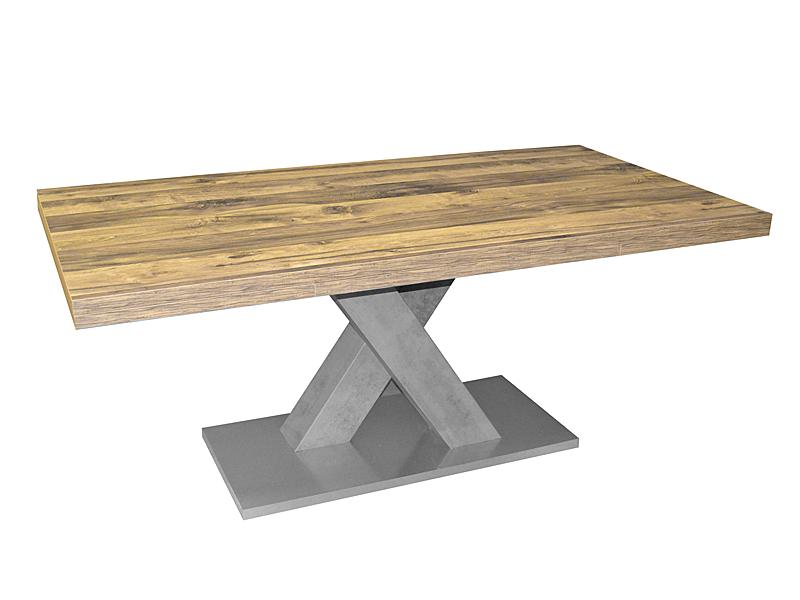 Mäusbacher Esstisch Komfort C Ausziehbarer Säulentisch Mit X Gestell Für  Ihr Esszimmer Tischplattenfarbe Und Untergestellfarbe