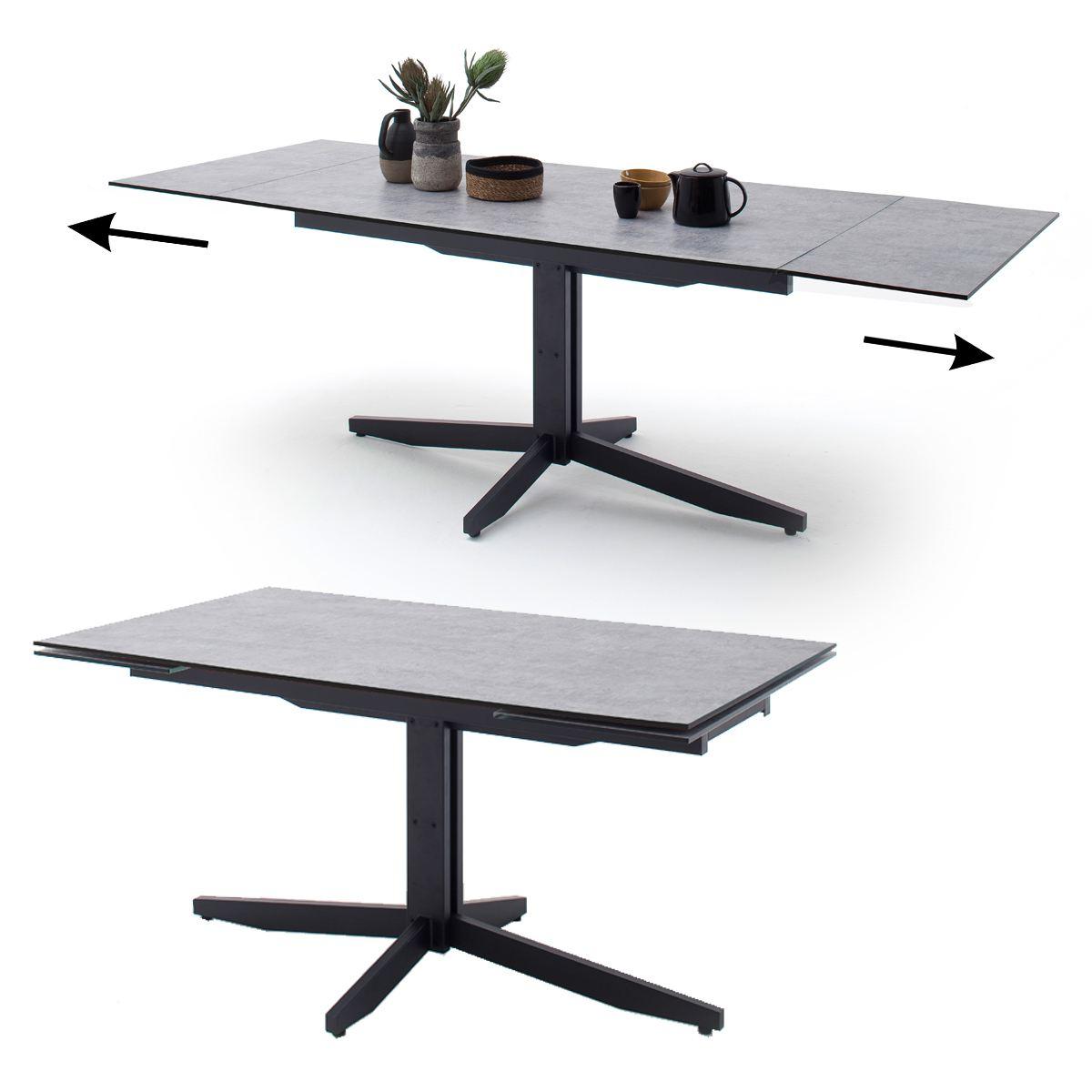 MCA furniture Esstisch Rimini Tischplatte HPL ausziehbar Metallgestell