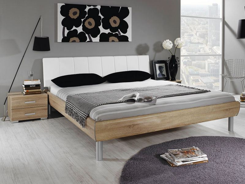 rauch select gala bett mit polster kopfteil liegefl che w hlbar. Black Bedroom Furniture Sets. Home Design Ideas