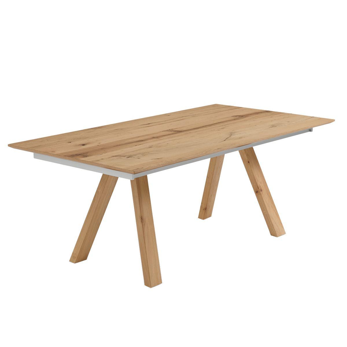 Venjakob Esstisch KLU ET159 Massivholz Tischplatte ausziehbar stabiles Metallgestell Ausführung ...