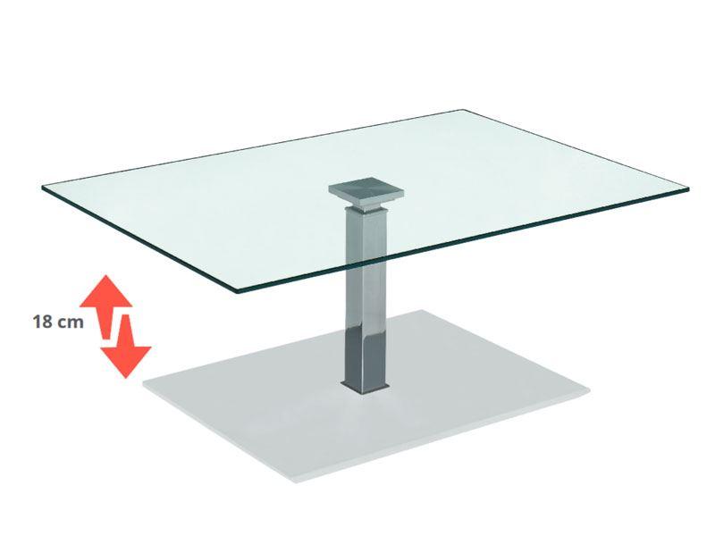 vierhaus couchtische mit glasplatte mit ilse lift. Black Bedroom Furniture Sets. Home Design Ideas