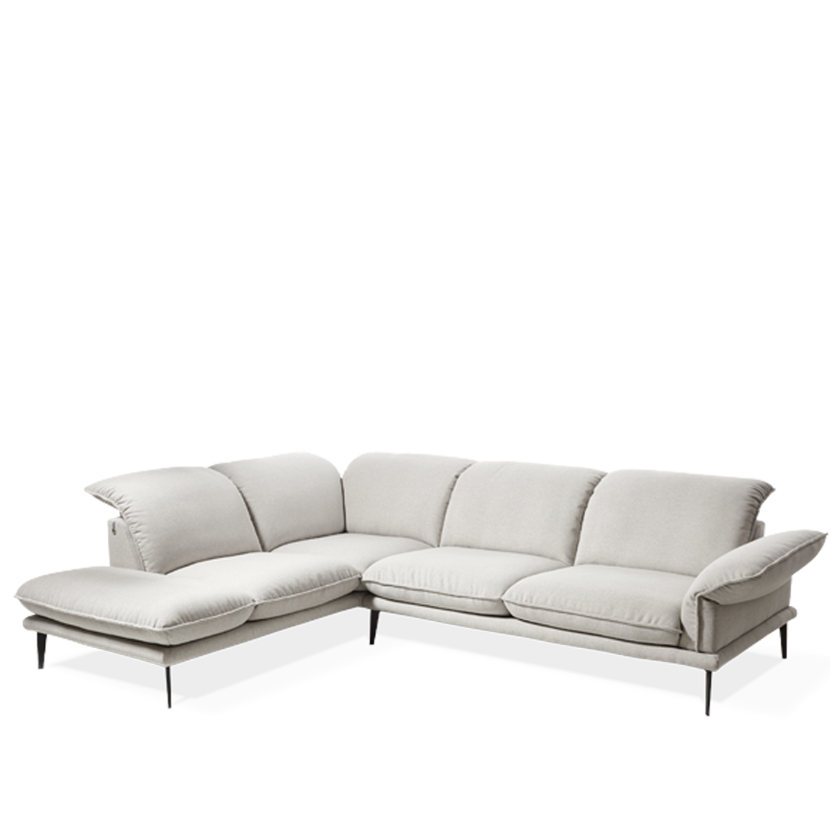 w schillig ecksofa sherry 24600 in l form mit hockerabschluss links. Black Bedroom Furniture Sets. Home Design Ideas