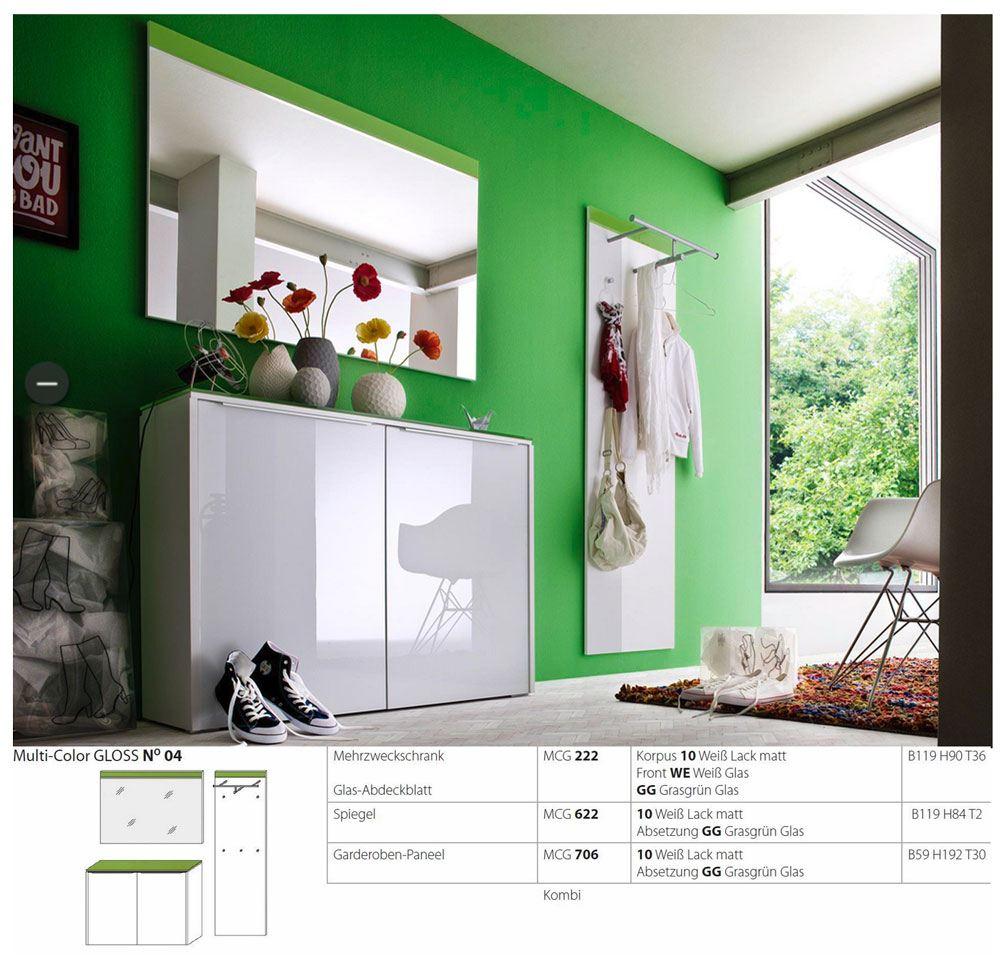 wittenbreder multi color gloss mcg n 04 schuhschrank mit spiegel und paneel g nstig online kaufen. Black Bedroom Furniture Sets. Home Design Ideas