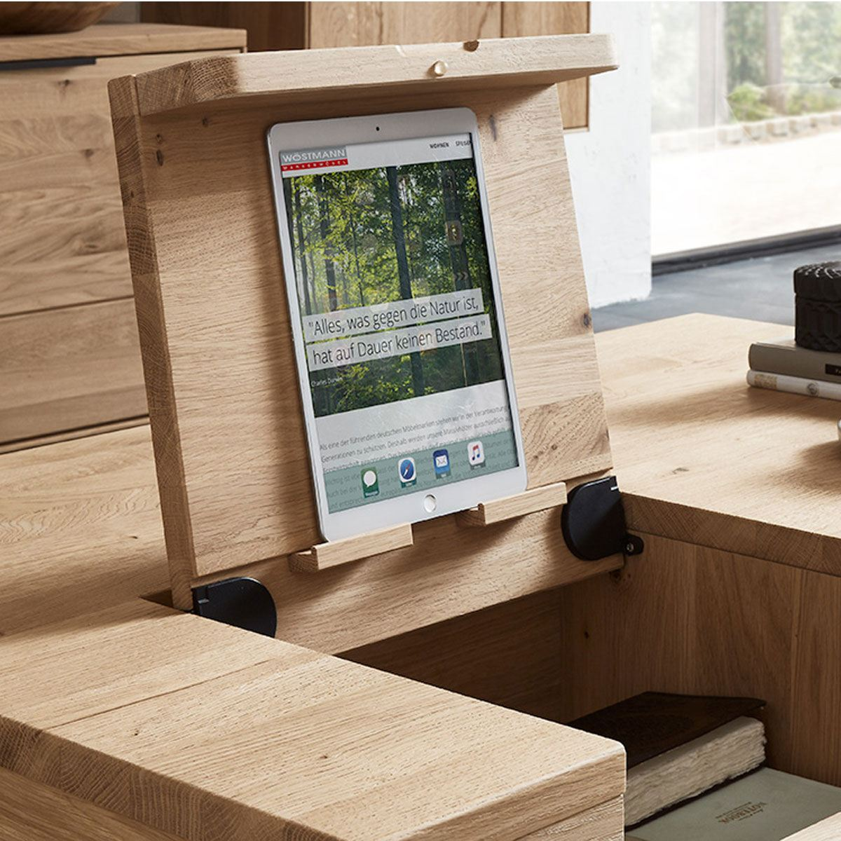 w stmann wm1910 couchtisch type 9505 in wildeiche massiv. Black Bedroom Furniture Sets. Home Design Ideas