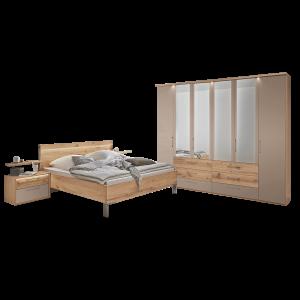 Disselkamp Cadiz Schlafzimmer Bett Nachtkonsolen Wandboards Schrank