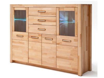 mca furniture giant kombi highboard 2 t rig kernbuche teilmassiv. Black Bedroom Furniture Sets. Home Design Ideas
